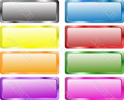 Colorful rectangle banners