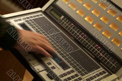 Audio mixer and human hand