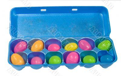 Plastic Eggs in Egg Carton