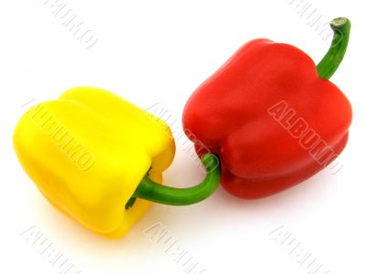 Yellow and red pepper