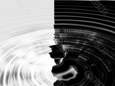 Black and white ripples