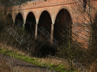 Old abandoned bridge and arches