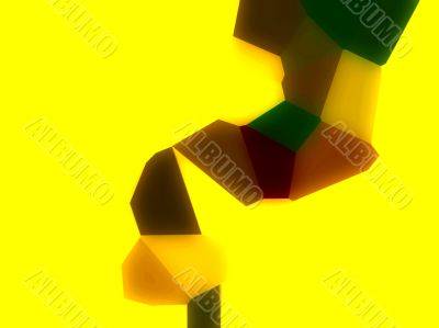 Yellow abstract twist
