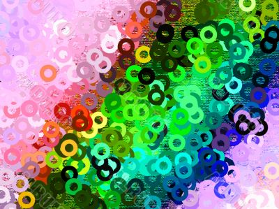 Highly colourful background circles