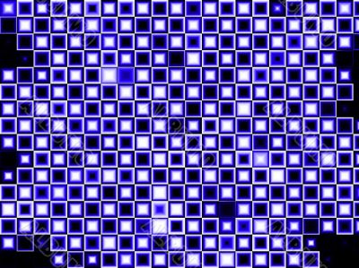 Indigo, and blue abstract  squares