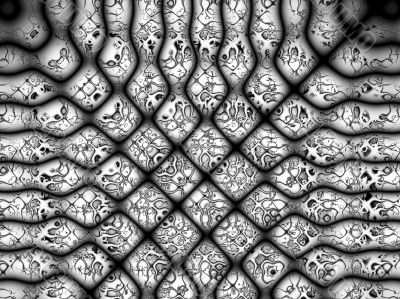 black and white mesh knots