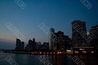 Gloomy Manhattan. New York City