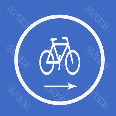 Cycle. Road sign
