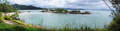 Panorama view coast Brazil