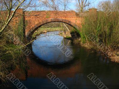 riverside scene and bridge