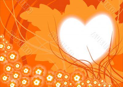 Valentines orange background