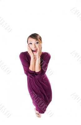 woman with a awe expression