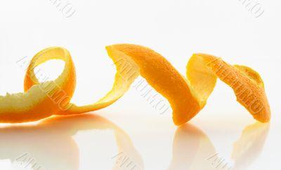 Peeled skin of an orange