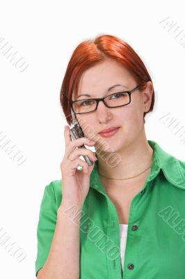 Teenager communicating