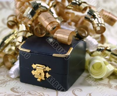 Closed Jewelry Box iwth Curly Ribbon