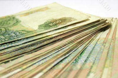 the pile paper bills