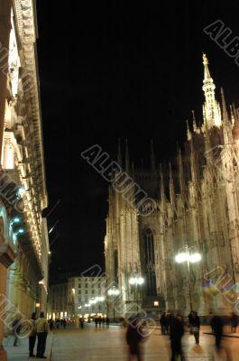 Night life in Milan