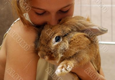 The girl with the rabbit