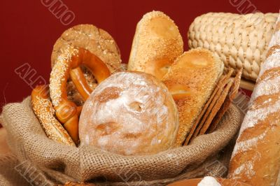 Assortment of baked breads