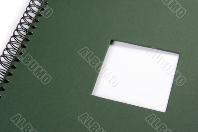 Framework album with green frame
