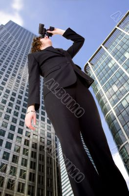 business vision - woman in corporate environment
