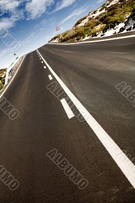rural road - perspective