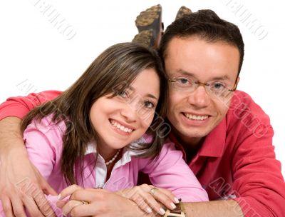 casual happy couple