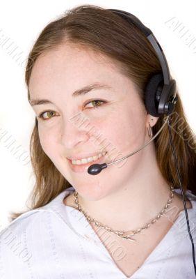 female customer services representative