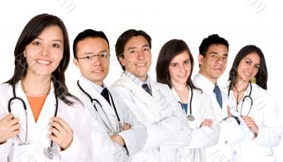 confident doctors team