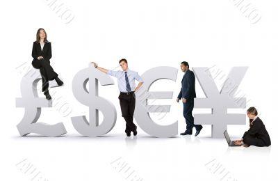 business worldwide team