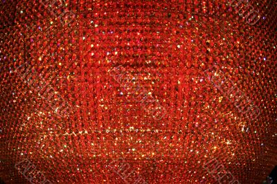 Abstract Red Crystal Background
