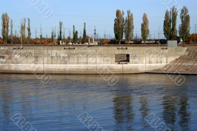 fence of the river channel