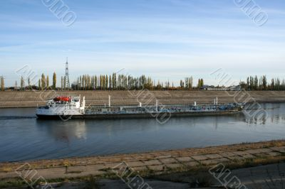 riverboat in channel