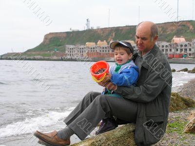 senior man with a grandson