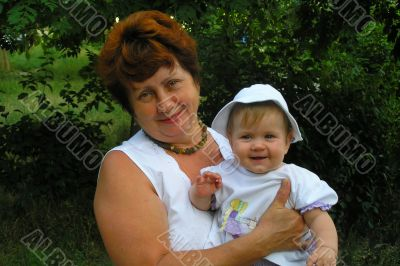 senior woman with a granddaughter