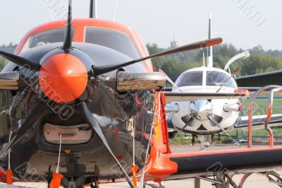 Sports planes in air station