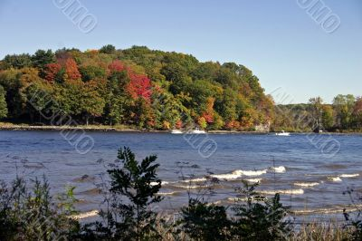 Ct river during the fall season