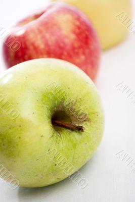 close-up green apple