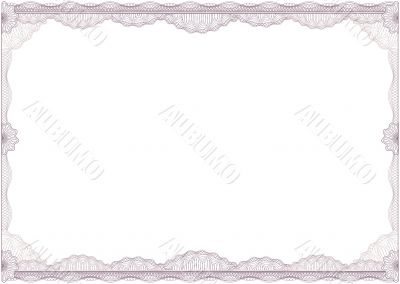 diploma or certificate / border / A4 / vector