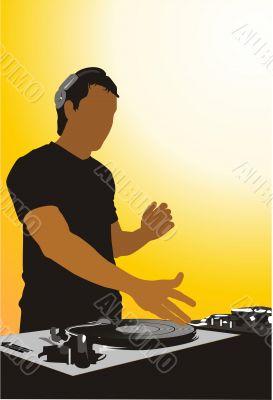Silhouette of the DJ