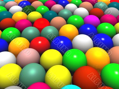 color balls or easter eggs