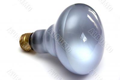 Light bulb at white background