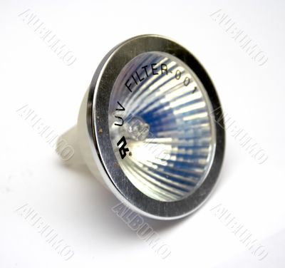 Fluorescent small spot light bulb