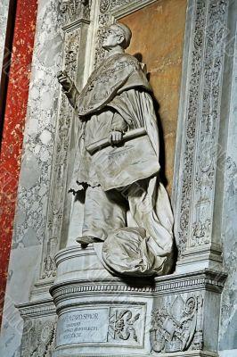 priest`s statue