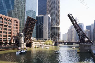 Draw bridges of Chicago