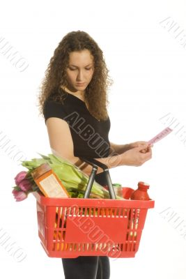 consumer in supermarket