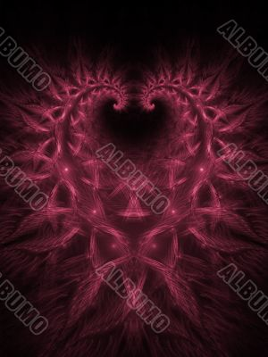 Fractal Abstract Background - Woven Heart