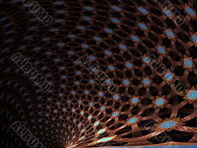 Woven Stars Abstract Background