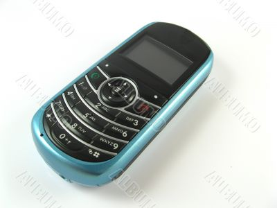 blue phone close-up