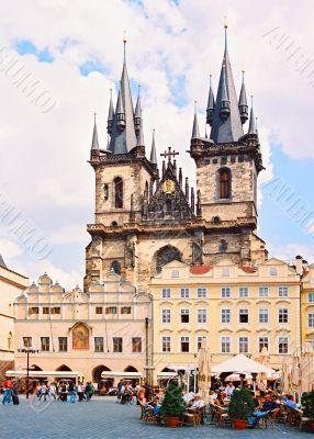 Staromestkaja  area in the city of Prague.